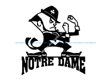 Notre Dame With Man