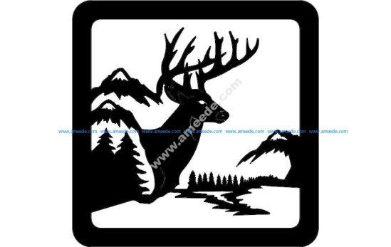 Deer Sitting Scene