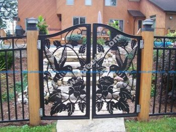 A wonderfully detailed iron gate