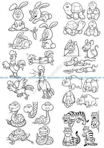 Animals Vector Clip Art