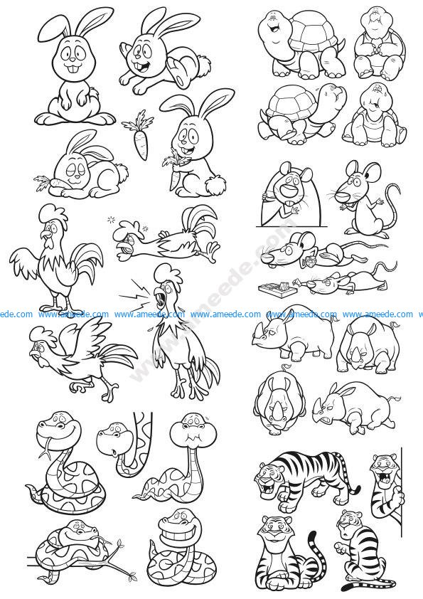 Animals Vector Clip Art