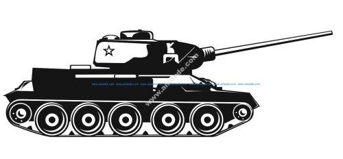 Army Tank Vector