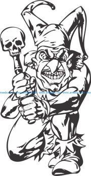 Bad Guy, Evil Clown vector art
