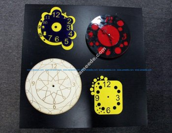 Beautiful Wall Clock Vector for cnc router or laser