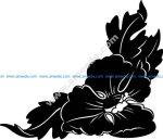 Big Flower Corner Design EPS