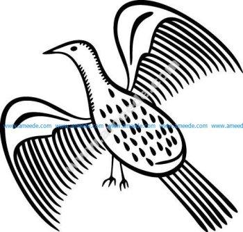 Bird Flying EPS