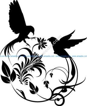 Birds Swirl