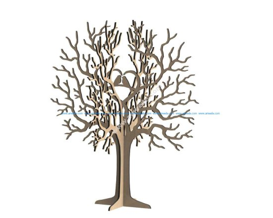 Birds Tree Jewelry Stand 3mm