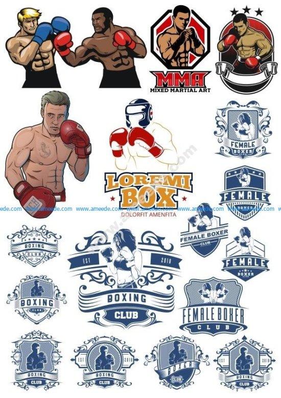 Boxer Vector Illustration Vector