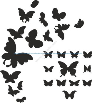 Butterfly Silhouette Vector Art