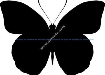 Butterfly Silhouette Vector Art