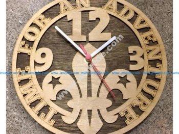 Cadre Horloge Scoute