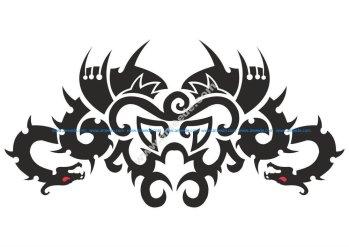 Car Hood Decal Dragon Animal Murals Predator Tribal Tattoo Vector