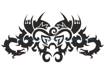 Car Hood Decal Dragon Animal Murals Predator Tribal Tattoo Vector