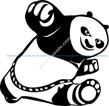 Car Stickers Cute Kung Fu Panda