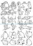 Cartoon Animals Vector Art