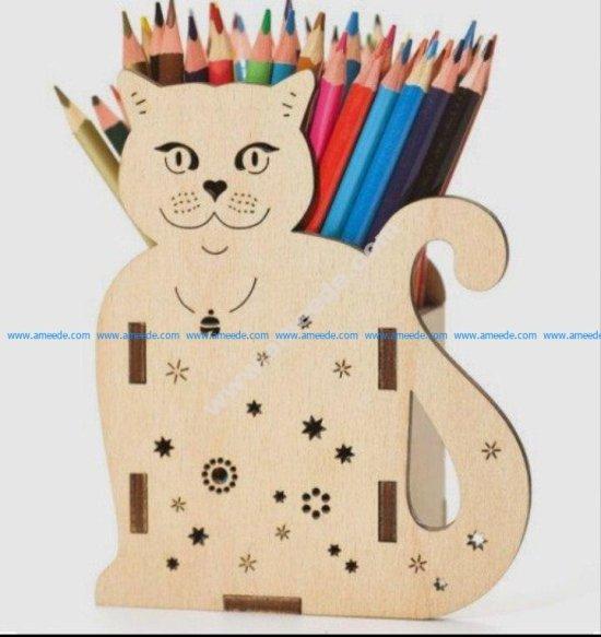 Cat Pencil Holder 3D Puzzle