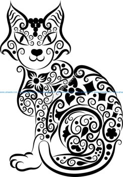 Cat Vector Line Art