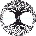 Celtic Tree of Life Vinyl Window Sticker vector