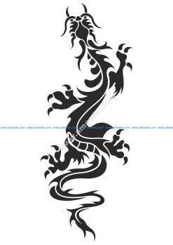 Chinese Dragon Tattoo Vector