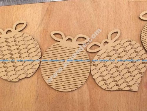 Christmas ornament laser cutting