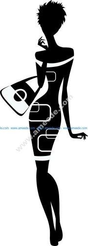Classy woman silhouette Vector