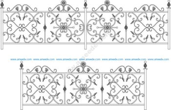 Decorative Wroughtiron Fence Or Railing