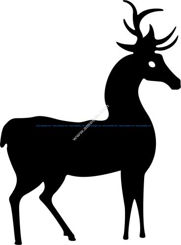 Deer Standing Silhouette Vector