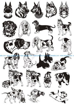 Dogs Vector Art Pack