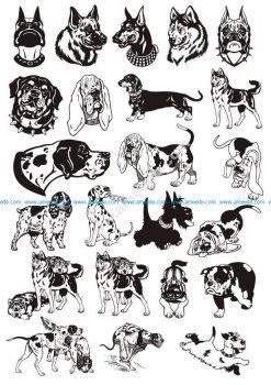 Dogs Vector Art Pack