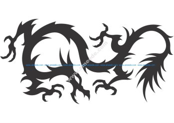 Dragon Vector Silhouette