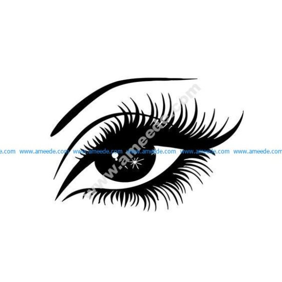 Eye silhouette vector