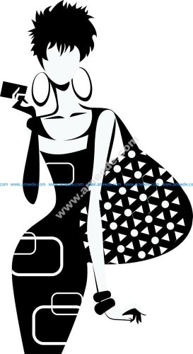 Fashion Girl Silhouette Vector