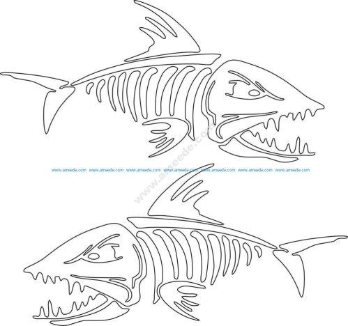 Fish Skeleton Vector Art