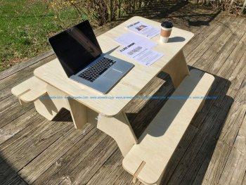 Flat Pack Picnic Table Lasercut