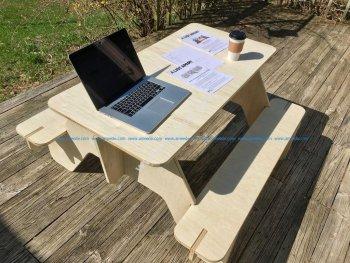 Flat Pack Picnic Table Lasercut