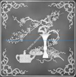 Floral Decorative Grayscale BMP File