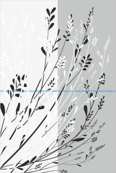 Floral Lace pattern sandblast pattern