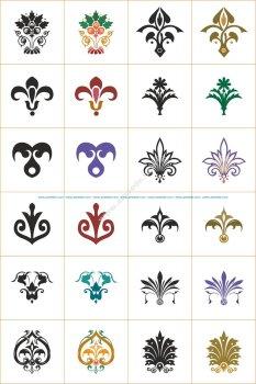 Floral Vector Ornaments Set