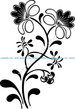 Flowers And Vines Car Window Decals