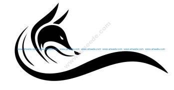 Fox head black logo