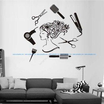 Hair Salon Girl Wall Art
