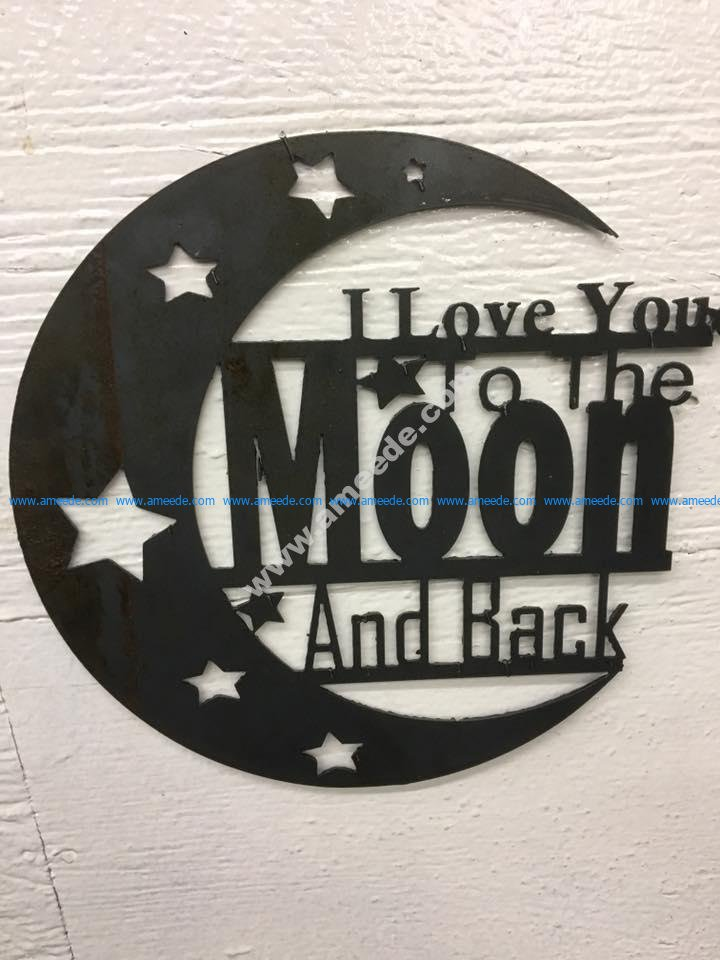 Download I Love You To Moon and Back - Download Free Vector