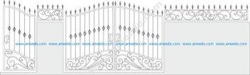 Iron Gate Vector Set Vector Art