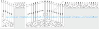 Iron Gate Vector Set Vector Art