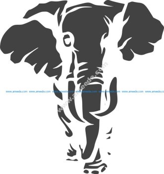 Jungle Animal Elephant Stencil