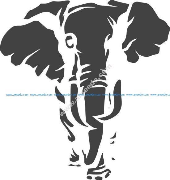 Jungle Animal Elephant Stencil
