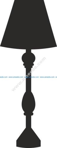 Lamp Silhouette Vector