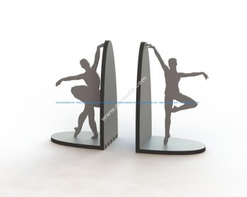 Laser Cut Ballerina Pair Book Supports