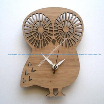 Laser Cut Owl Shape Clock